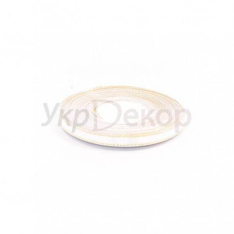 Лента атласная с золотым люрексом 0,9 см
