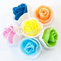Головка розочки из фоамирана двухцветная 2,5-3,0 см