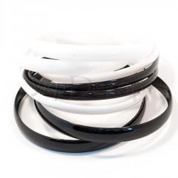 Обруч пластмассовый черный, белый