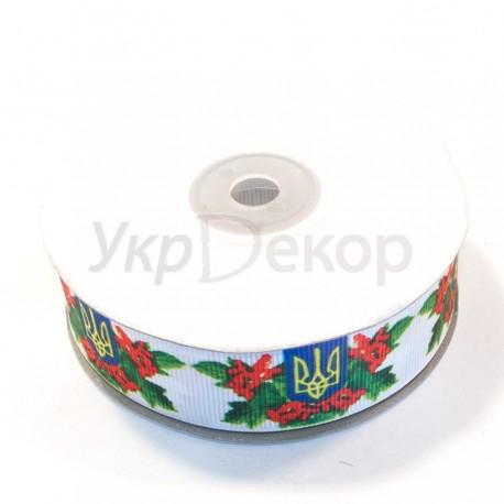 Лента репсовая украинский рисунок 2,5 см