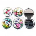 Зеркало карманное цветы и бабочки №1953