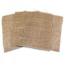 Декоративная мешковина в листах 20х30 см.