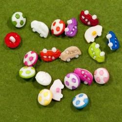 Пуговицы пластмасовые детские SK маленькие