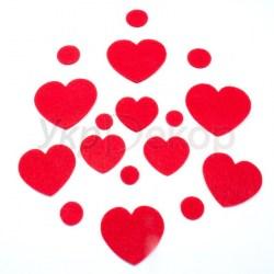 Вырубка из фетра Сердца