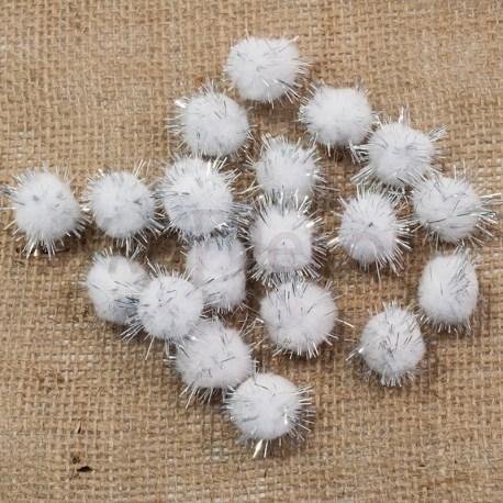 Шарики помпоны Блеск 2,0 см
