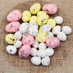 Яйца пасхальные перепелиные из пенопласта.