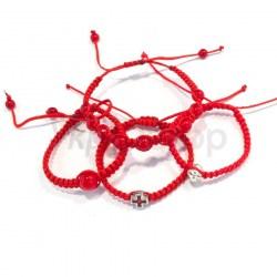 Браслеты плетеные из ниток с бусинами