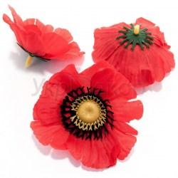 Цветок мака из ткани 8,0 см