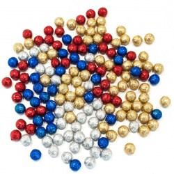 Новогодние шарики с блестками ВР 1,5 см.