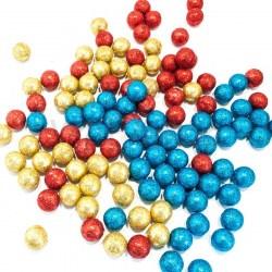 Новогодние шарики с блестками ВР 2,0 см.