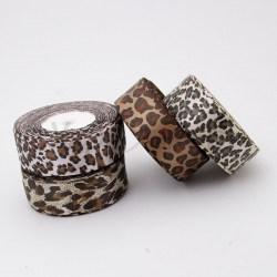 Атласная леопардовая лента  2,5 см
