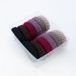 Резинка для волос, Ромбик, 1,8*5 см Микрофибра, плотная.
